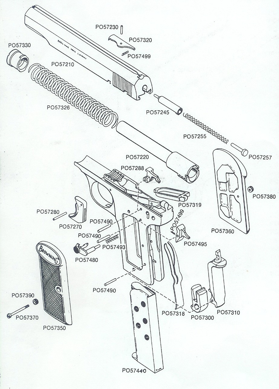 Browning firearms parts catalog browning 1910 exploded views pooptronica